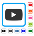 play video framed icon vector image
