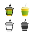 Soft drink colored icon set vector image