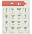 Trophy icon set vector image