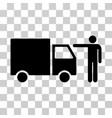 Truck customer icon vector image