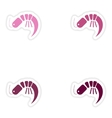 Set of paper stickers on white background ocean vector image