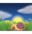 A snail at the road vector image vector image