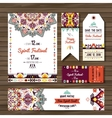 Set of geometric boho flyers decorative vector image