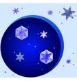 crystal snowflakes vector image vector image