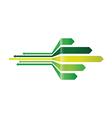 green arrow background vector image vector image