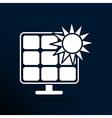 Solar energy panel icon sun power vector image