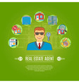 Real Estate Agent Concept vector image