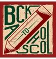Retro of back to school vector image