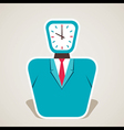 clock face of businessmen vector image