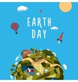 Earth day Environment and ecology concept vector image
