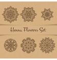 Henna Flowers Set vector image