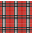 red black and white plaid pattern background vector image