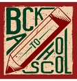 Retro of back to school vector image