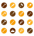 set of construction tools on color bakground vector image