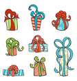set of hand-drawn gifts vector image