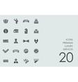 Set of premium luxury services icons vector image