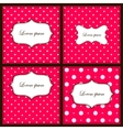 Pink set of backgrounds vector image