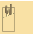 Knife fork and napkin vector image vector image