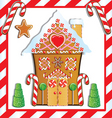 gingerbread house vector image