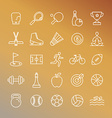 sport linear icons vector image vector image