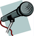 hand microphone vector image vector image