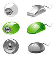 webcam and mice icons vector image vector image