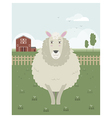 Sheep in a meadow vector image