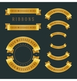 Vintage gold shiny ribbons retro style vector image vector image