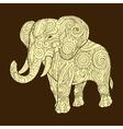 Elephant ornament ethnic vector image