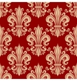 Vintage seamless fleur-de-lis floral pattern vector image