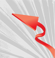 abstract arrow design vector image vector image