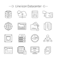 Datacenter Line Icon Set vector image