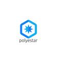 abstract star sun polygon logo icon creative apps vector image
