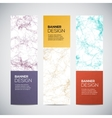 Banners with abstract colorful triangulated lined vector image