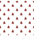 birthday cake with candle pattern vector image