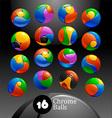 Chrome balls logo elements vector image