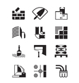 Construction materials and tools vector image