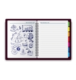 Creative notebook idea vector image