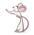 funny cute cartoon mouse vector image