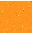 Orange water transparent drops seamless pattern vector image