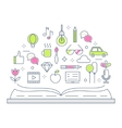 Reading and Storytelling Line vector image