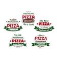 Set of italian pizza labels vector image