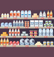 stall or stand with milk products in mall vector image
