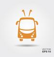 trolleybus icon vector image