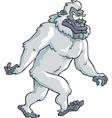 white bigfoot vector image