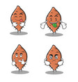 yam character set cartoon collection stock vector image