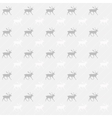 Gray and white reindeer background vector image vector image