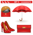 Female Accessories Set 3 vector image
