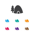 of journey symbol on tent icon vector image