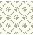 Dog paw footprint seamless pattern vector image